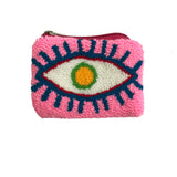 Baby Pink & White coin purse