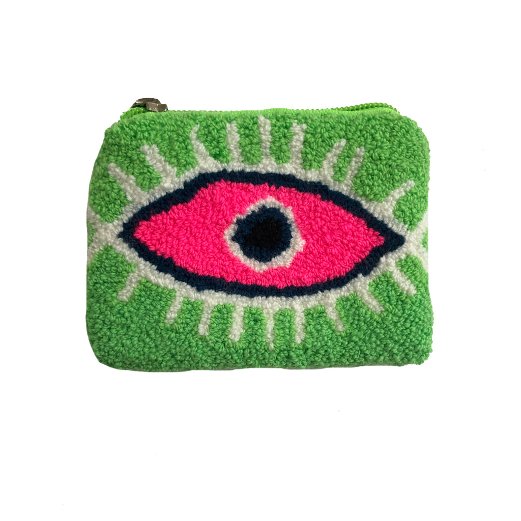 Lime Green & Pink coin purse