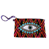 Black & Orange Evil Eye Clutch