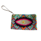Light Grey Evil Eye Clutch