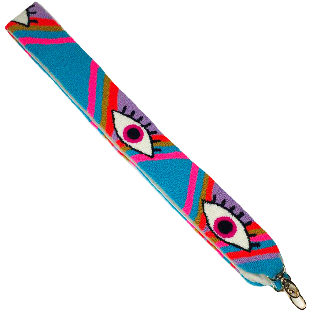 Blue & Pink Eye Shoulder Strap