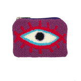 Purple & Red coin purse