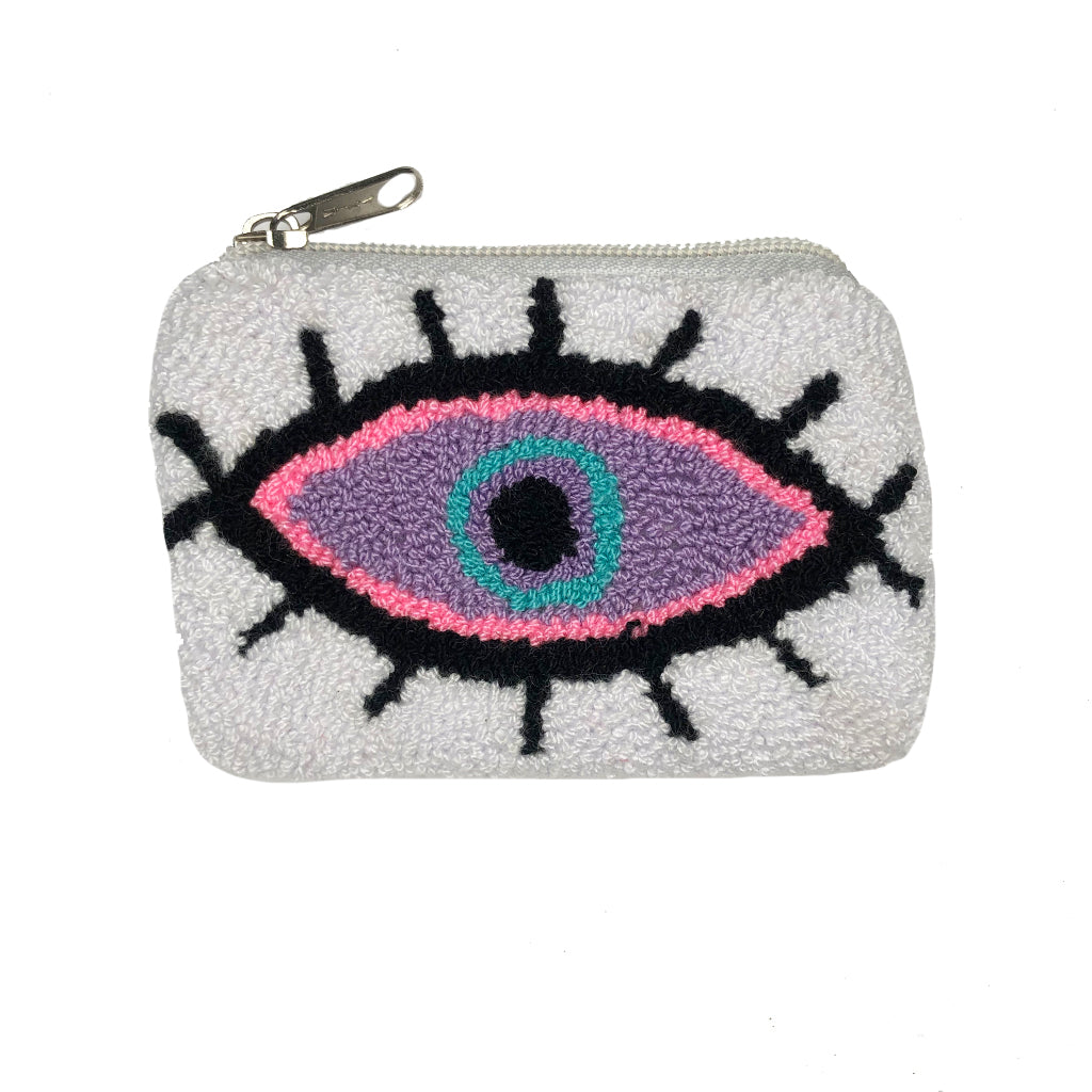 White & Purple coin purse