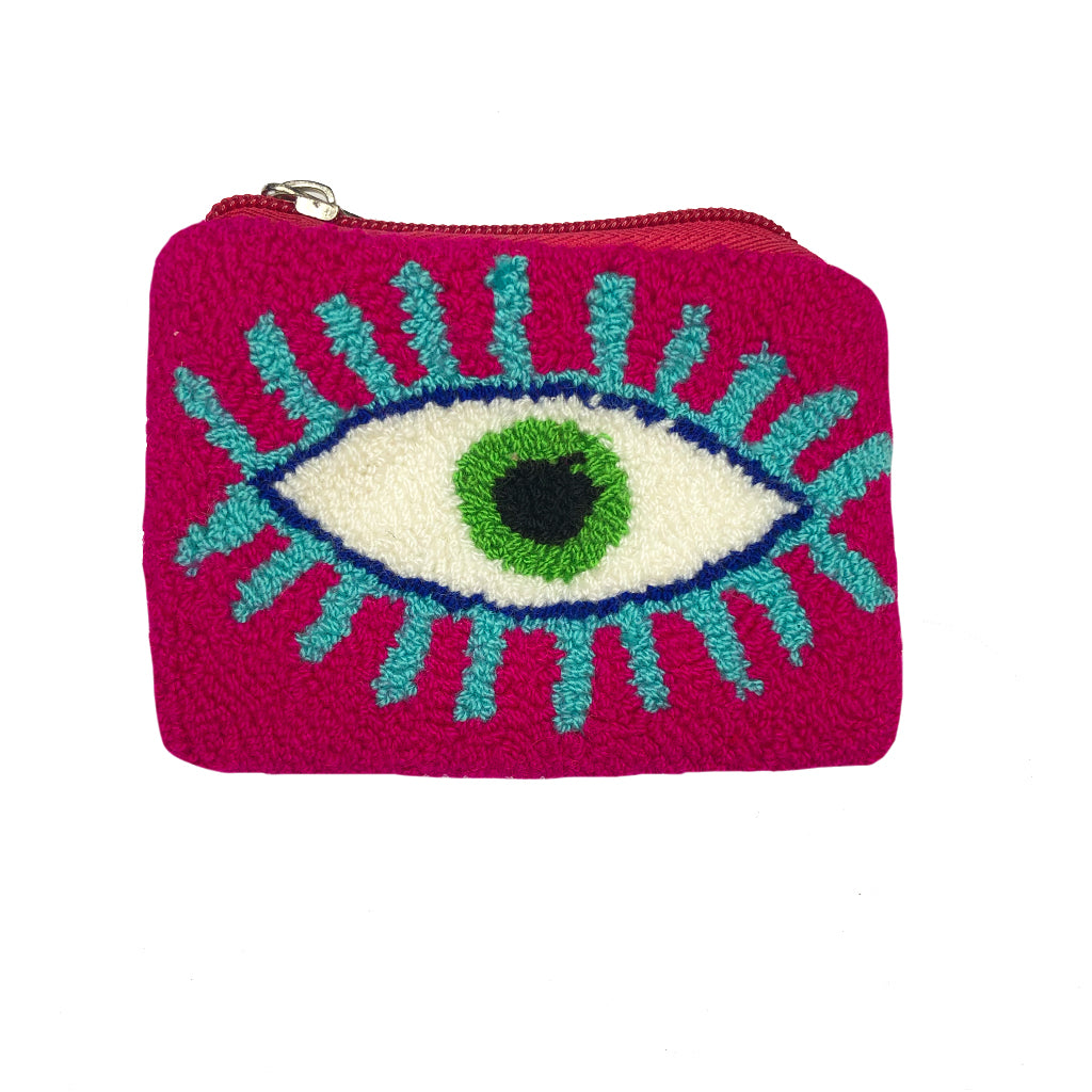 Pink & Blue coin purse