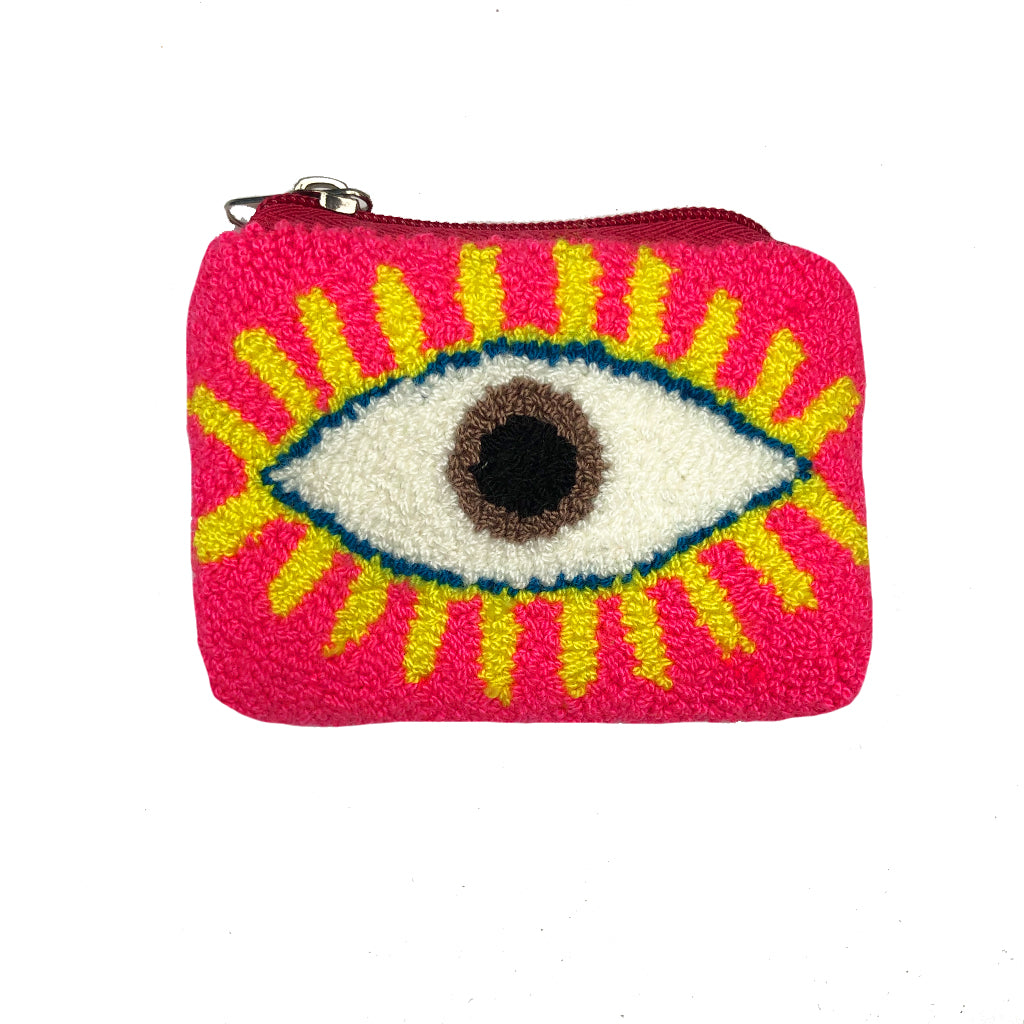 Pink & Yellow coin purse