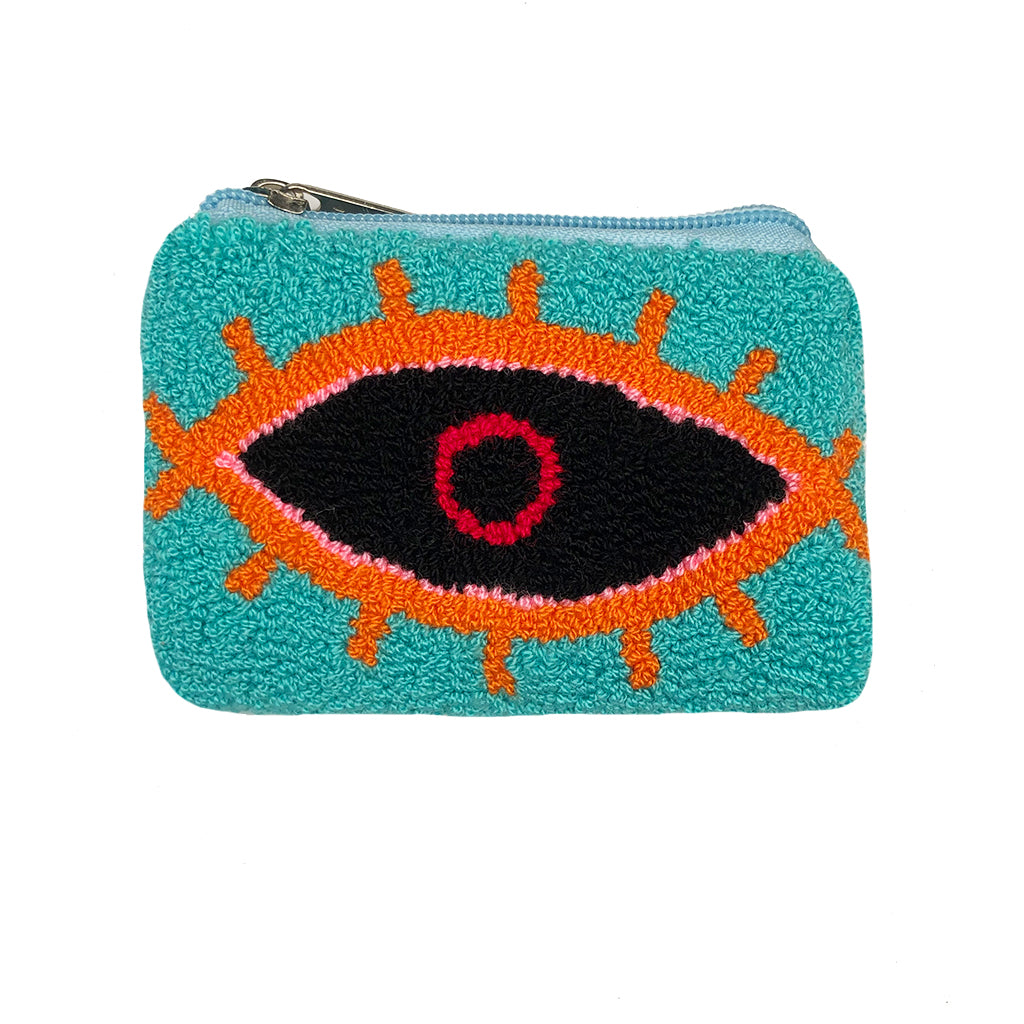 Turquoise & Black coin purse