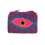 Dark Purple & Pink coin purse