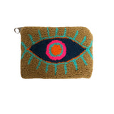 Khaki & Navy Blue coin purse