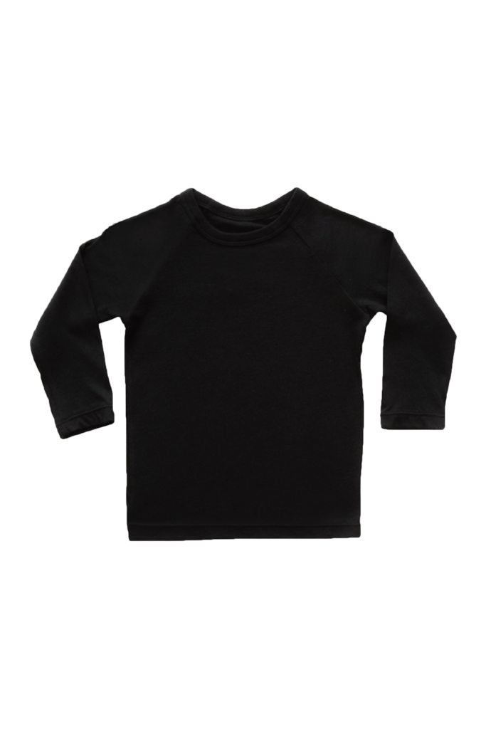 Black Raglan Long-Sleeves - MINIMAL STUDIOS