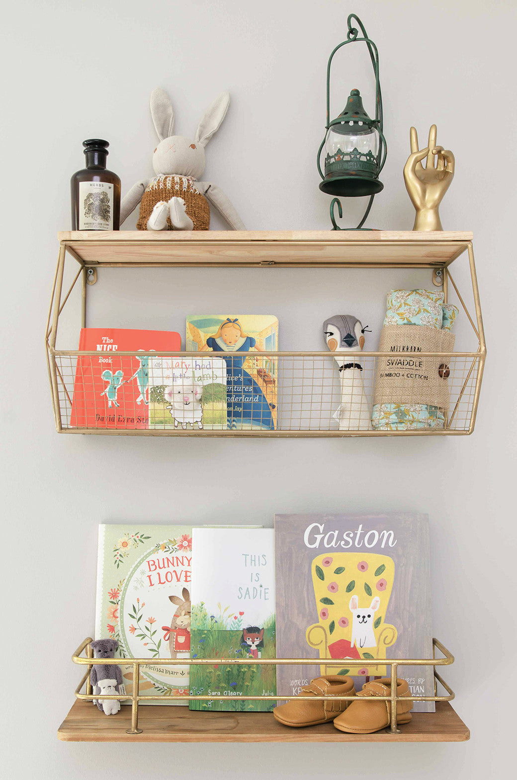 dainty cheeks nursery shelf