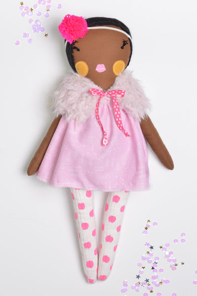 Heirloom Girl Doll // Pink Polka Dot