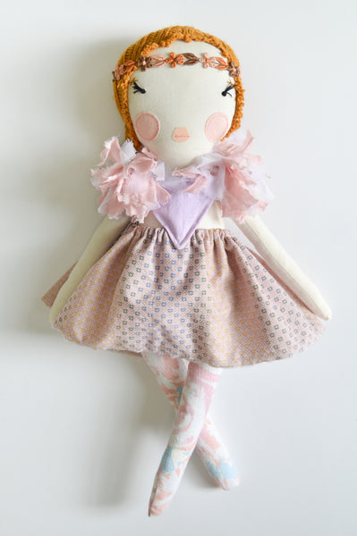 Heirloom Girl Doll // Pink