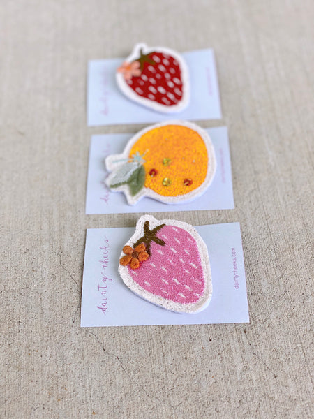 Hair Clip // Funky Fruit