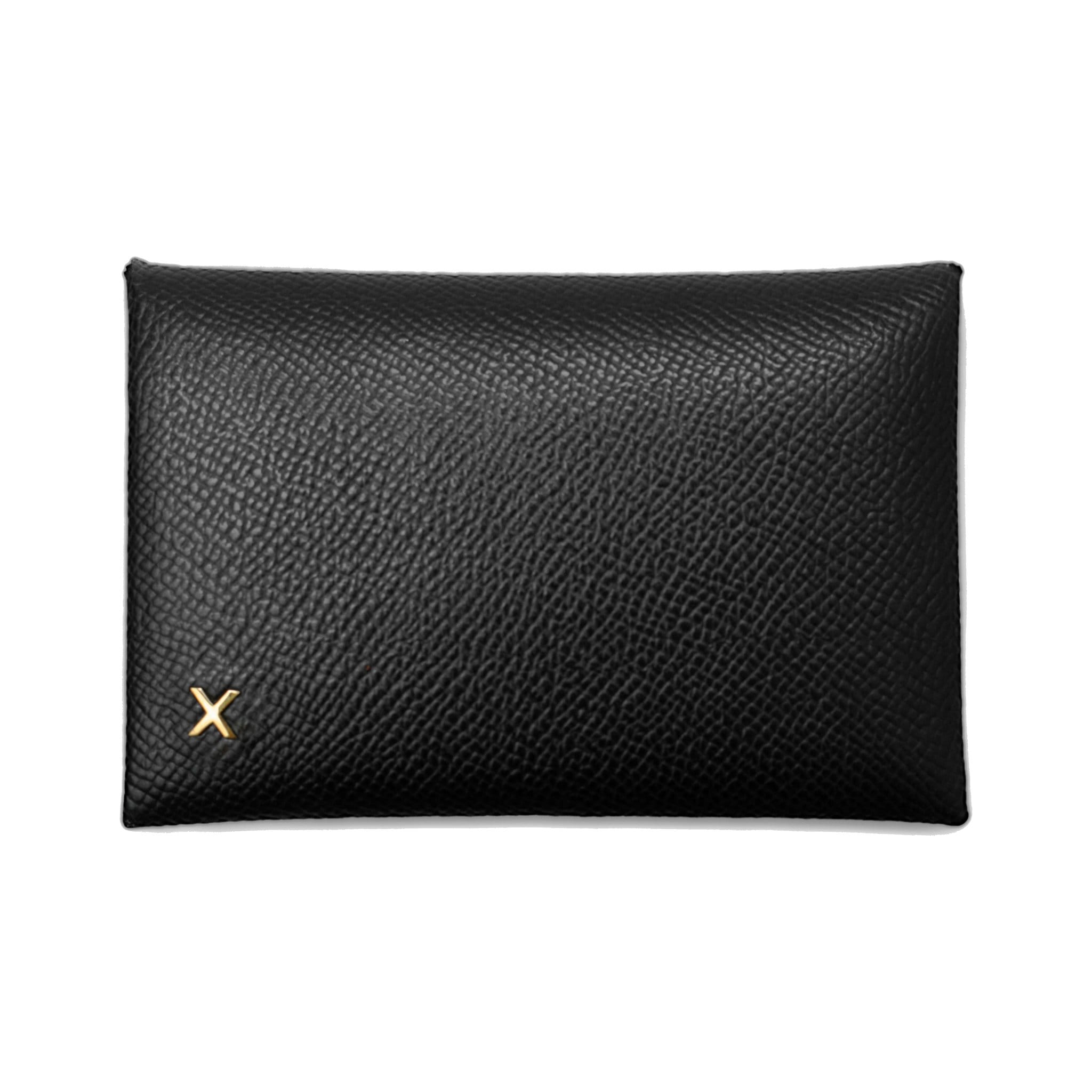 X NIHILO Carla cardholder in black textured cow leather 9575d68975ac2