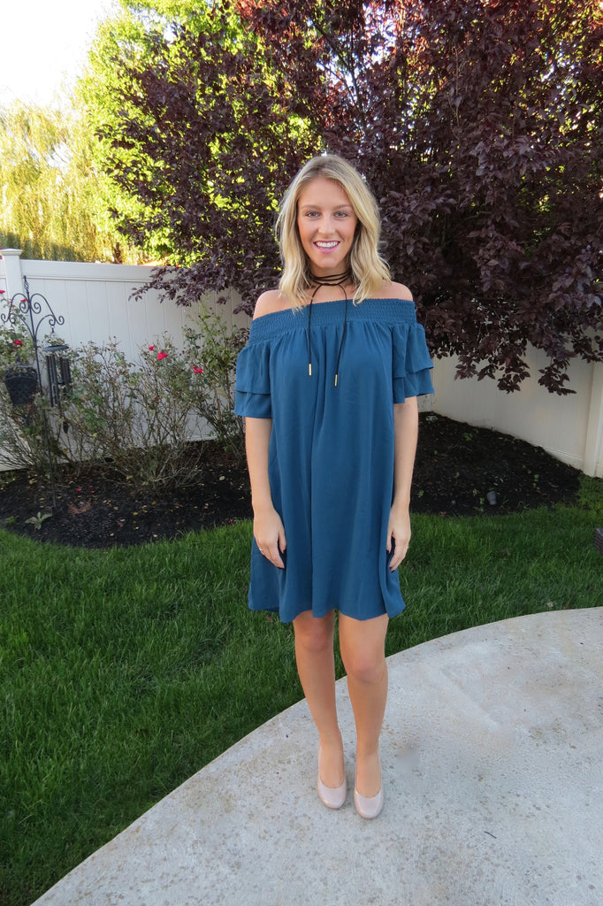 Midnight Blue OTS Dress