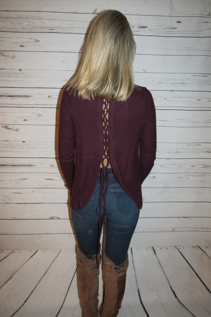 Soft Knit Sweater - Burgundy