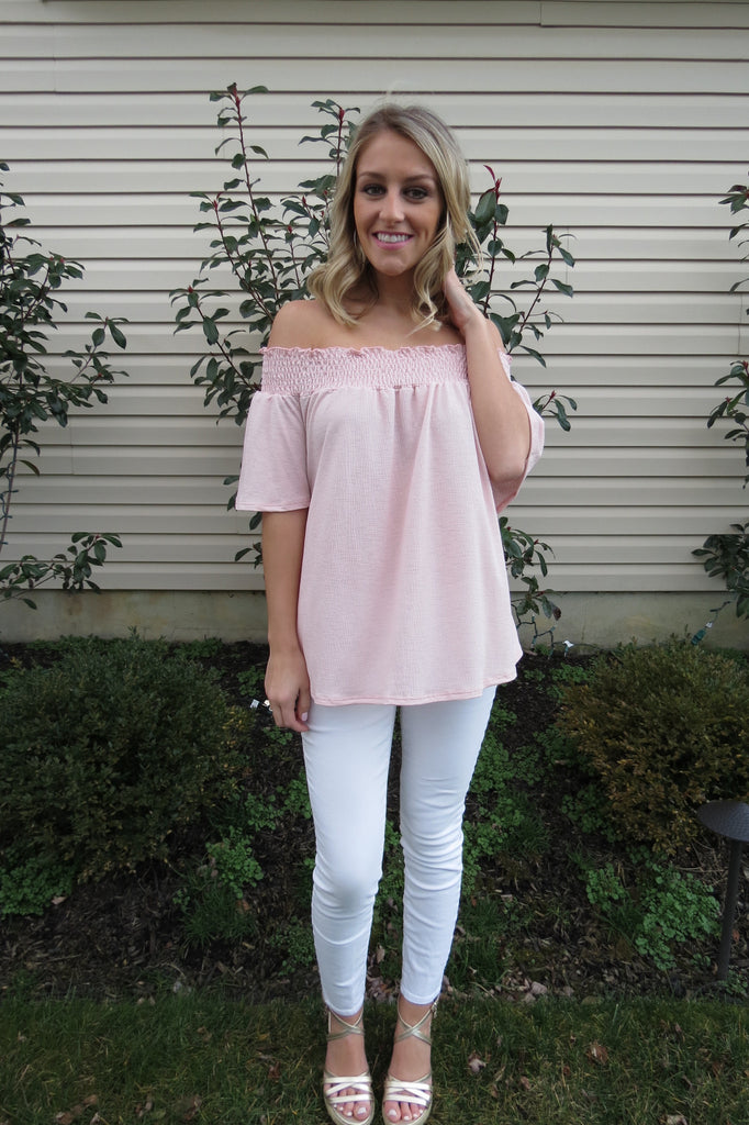 Light Pink OTS Top