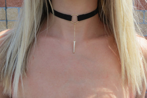 Drop Bar Choker - Black