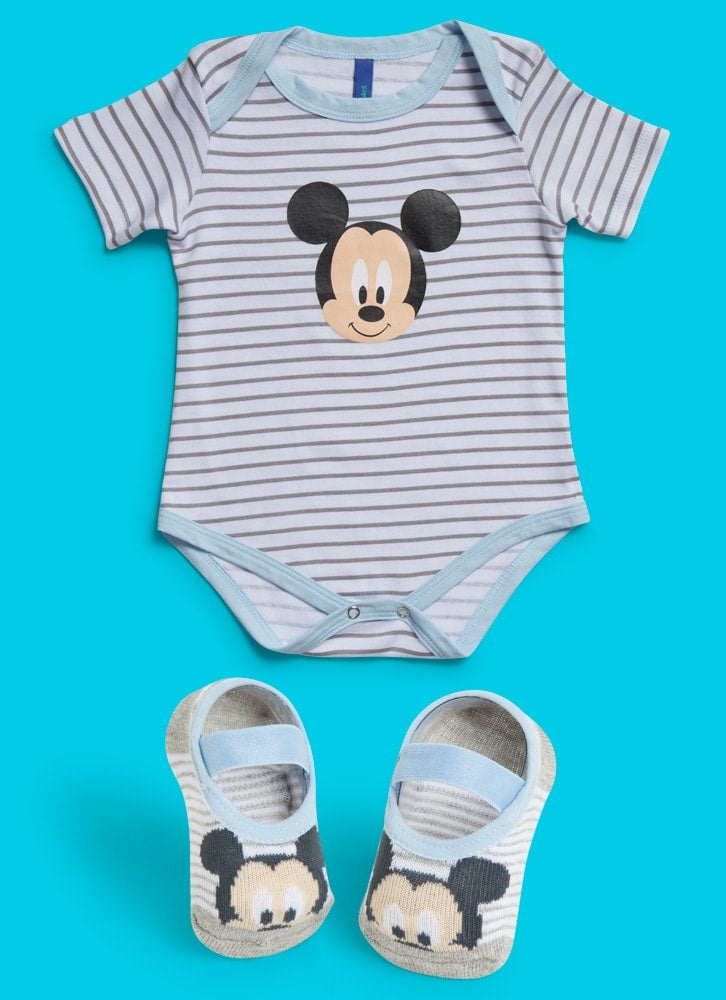 KIT BODY + SAPATILHA MICKEY - MaiSapeca