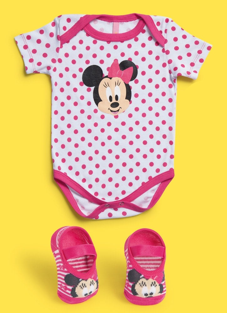 KIT BODY + SAPATILHA MINNIE - MaiSapeca