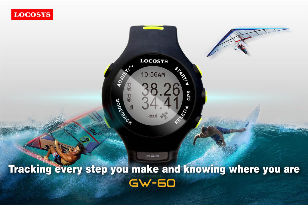 LOCOSYS Announced to Release  the New GPS Sport Watch GW-60 for High-Speed Sports Soon!
