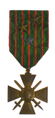 French World War One 1914-1917 Croix Du Guerre Gallantry Medal