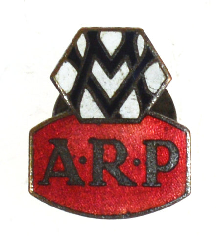 World War Two Metropolitan Vickers ARP Air Raid Wardens Enamel Lapel Badge
