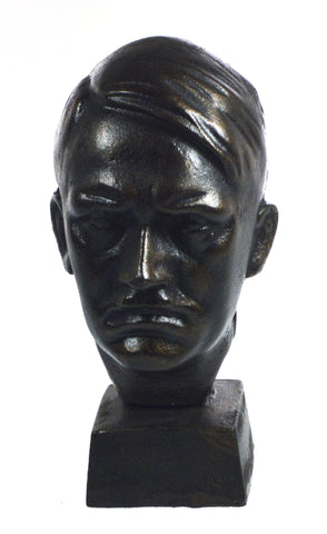 Cast Iron Bronzed Effect Adolf Hitler Bust On Plinth