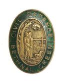 World War Two Bethnal Green Civil Defence Corps Wardens Enamel Cap Badge
