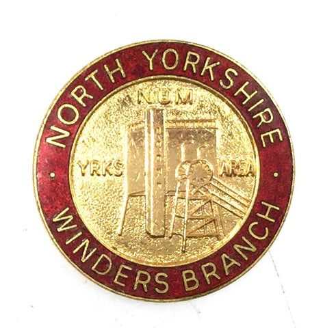 North Yorkshire National Union Of Miners NUM Winders Badges 1980's Miners Strike Supporters Badge