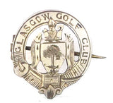 Glasgow Golf Club 1903 Members Numbered Silver Badge