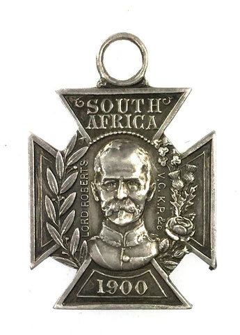 Boer War South Africa 1900 Tyneside Friendly Societies Silver Tribute Medal