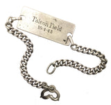 World War Two DFC Winners Silver Identity Bracelet - 55128 D W Spiby, Royal Air Force