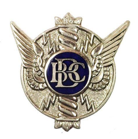 World War Two British Broadcasting Corporation BBC On War Service Enamel Badge