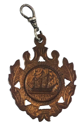 British and Foreign Sailors' Society 1905 HMS Victory Copper Fob Medallion