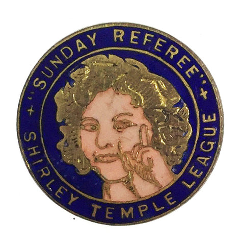 1930's Shirley Temple League Sunday Referee Enamel Badge