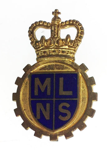Vintage 1950's Ministry Of Labour & National Service Enamel Cap Badge