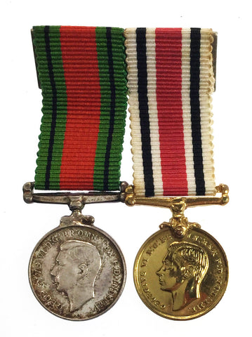 Mounted Miniature World War Defence Medal & Special Constabulary LSGC Medal Pair