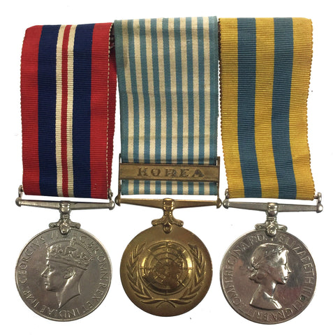 WWII War Medal, Korea Medal & UN Korea Medal Group - 22250526 Cfn Mountain, Royal Mechanical & Electrical Engineers