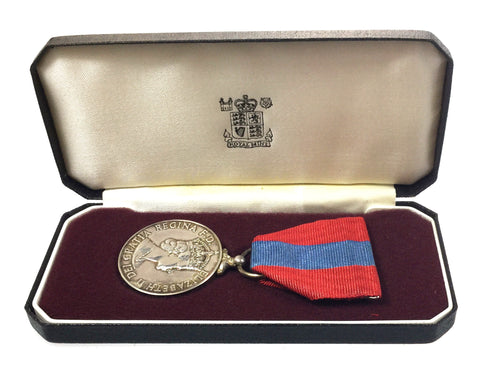 Cased QEII Imperial Service Medal Awarded To James McCulloch