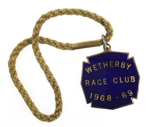 Wetherby Race Club 1968-69 Horse Racing Private Stand Members Badge