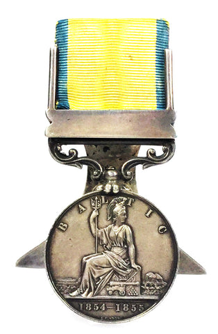 Hallmarked Silver Menu Holder Made From An Original Baltic Campaign Medal