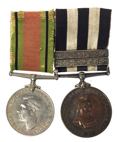 World War Two Defence Medal & St Johns Ambulance Medal LSGC Pair - Pte M Collins