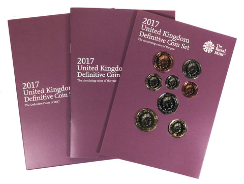 Royal Mint 2017 Brilliant Uncirculated Definitive 8 Coin Set