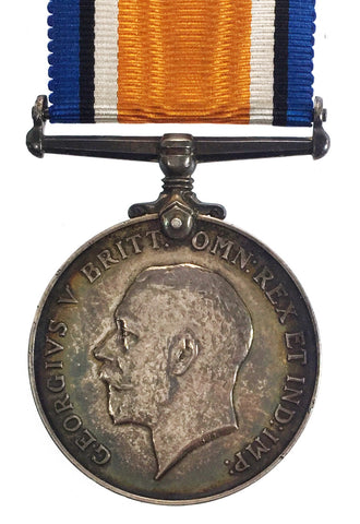 World War One British War Medal - 63052 Pte T Meadows, West Yorkshire Regt