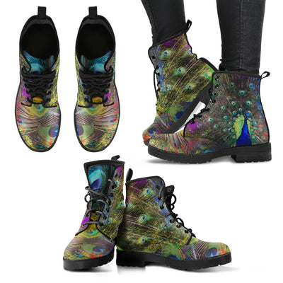 Spiritual Peacock Handcrafted Boots - MM Watch 4U Store | Quality & Style