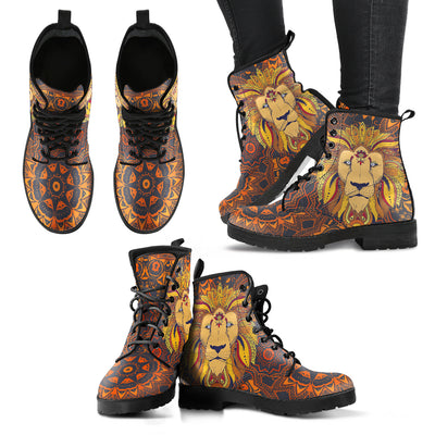 Lion Tribal Mandala Handcrafted Boots - MM Watch 4U Store | Quality & Style