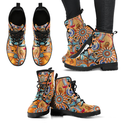 Multi-Colored Swirls Fractal Handcrafted Boots - MM Watch 4U Store | Quality & Style
