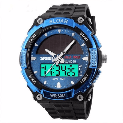 Skmei Solar Powered Men's Quartz Waterproof Watch