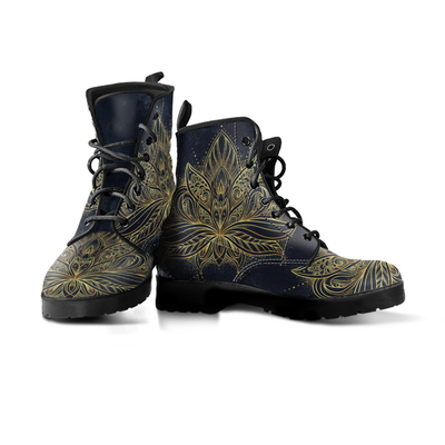 Spiritual Lotus Mandala Handcrafted Boots - MM Watch 4U Store | Quality & Style